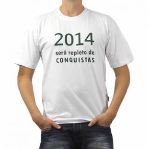 Camiseta Personalizada Organic Com Estampa Frontal e Lateral