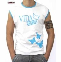 Camiseta Básica Cavada Com Estampa Frontal Duas Cores