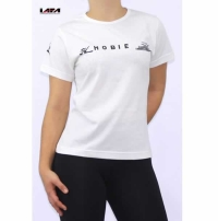 Camiseta Baby Look Dry Fit - Poliamida - Com Estampa Frontal