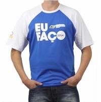 Camiseta Básica Com Estampa Frontal e Lateral Duas Cores