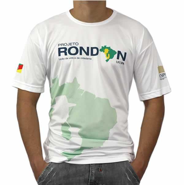 Camiseta Personalizada Dry Fit - Maratona - Com Estampa Frontal e Lateral