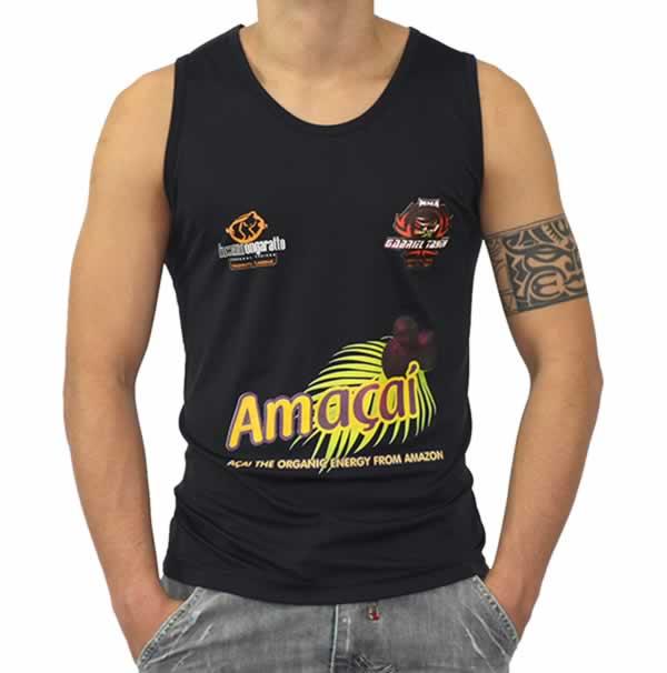 Camiseta Personalizada  Regata Dry Fit - Poliamida -  Com Estampa Frontal