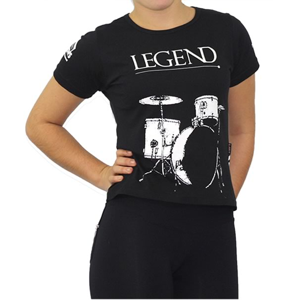 Camiseta Personalizada Baby Look Dry Fit - Maratona - Com Estampa Frontal