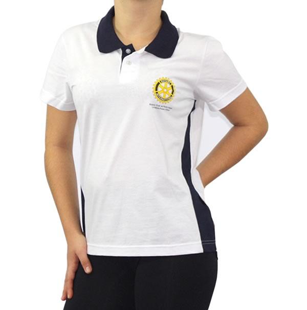 Camisa Polo Personalizada Feminina Com Estampa Duas Cores