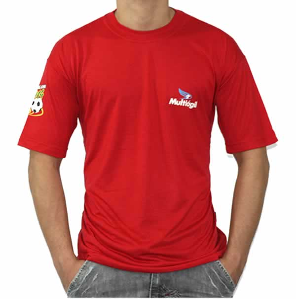 Camiseta Personalizada Poliviscose Com Estampa Frontal e Lateral
