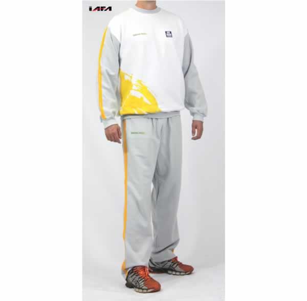 Abrigo Esportivo Personalizado Amarelo e Cinza
